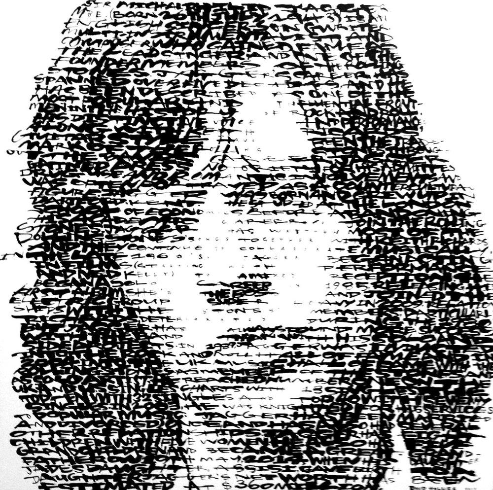 "- https://en.wikipedia.org/wiki/Mick_Jagger(summer 2017)54""x 54 Acrylic on Canvas - 2017$11,000"
