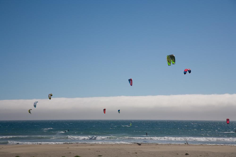 Paragliders, San Mateo Coast