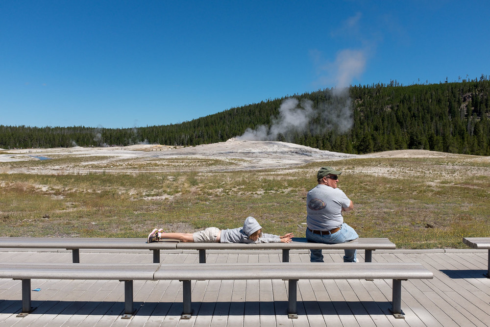 Old Faithful, Between Eruptions