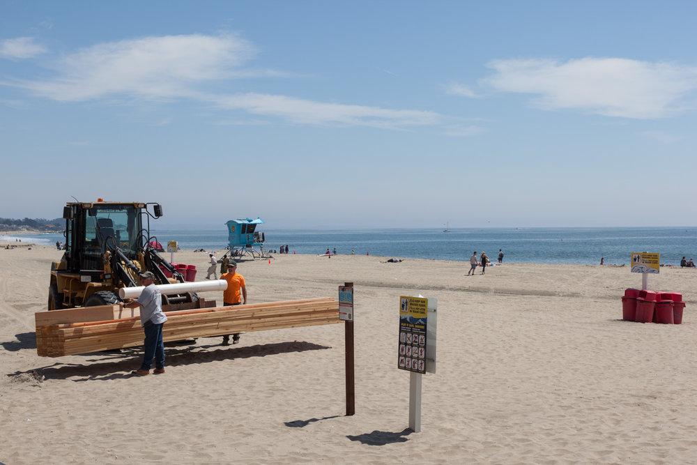 Boardwalk Construction, Santa Cruz