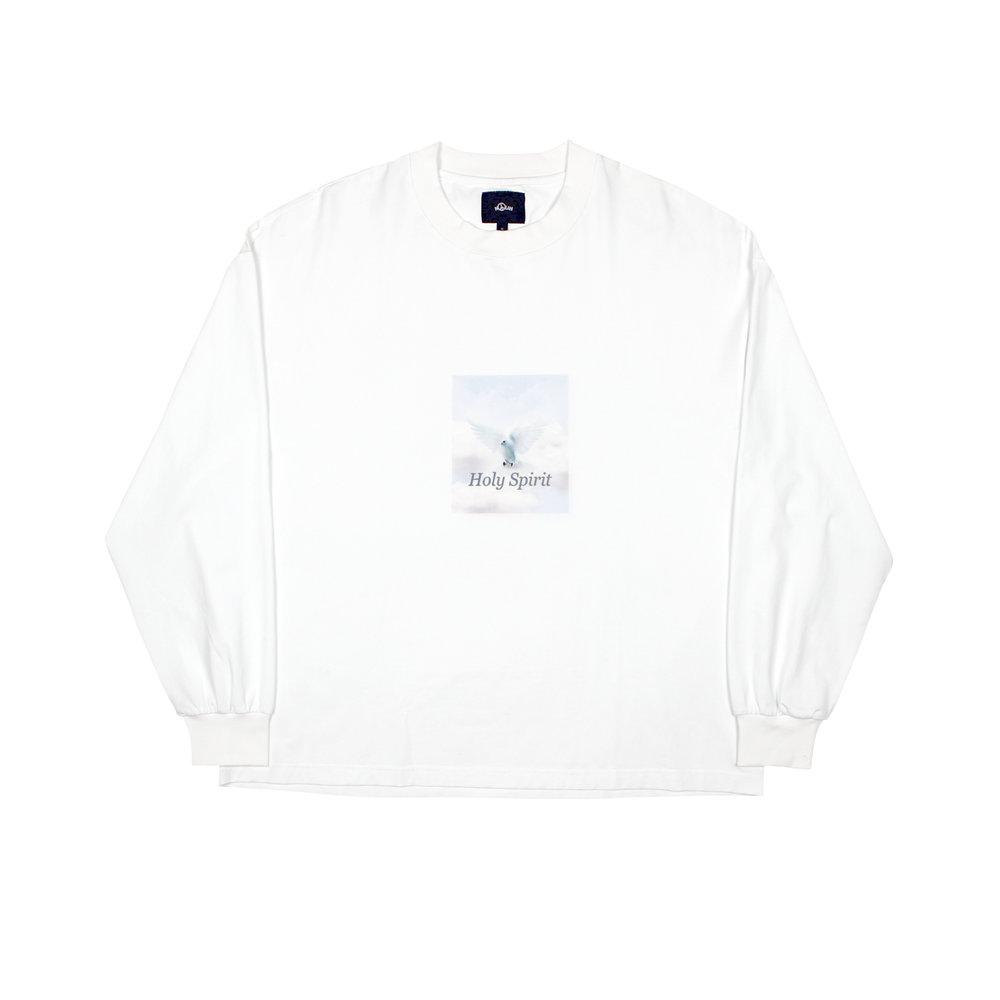 Nolan Holy Spirit LS Tshirt White Front.jpg