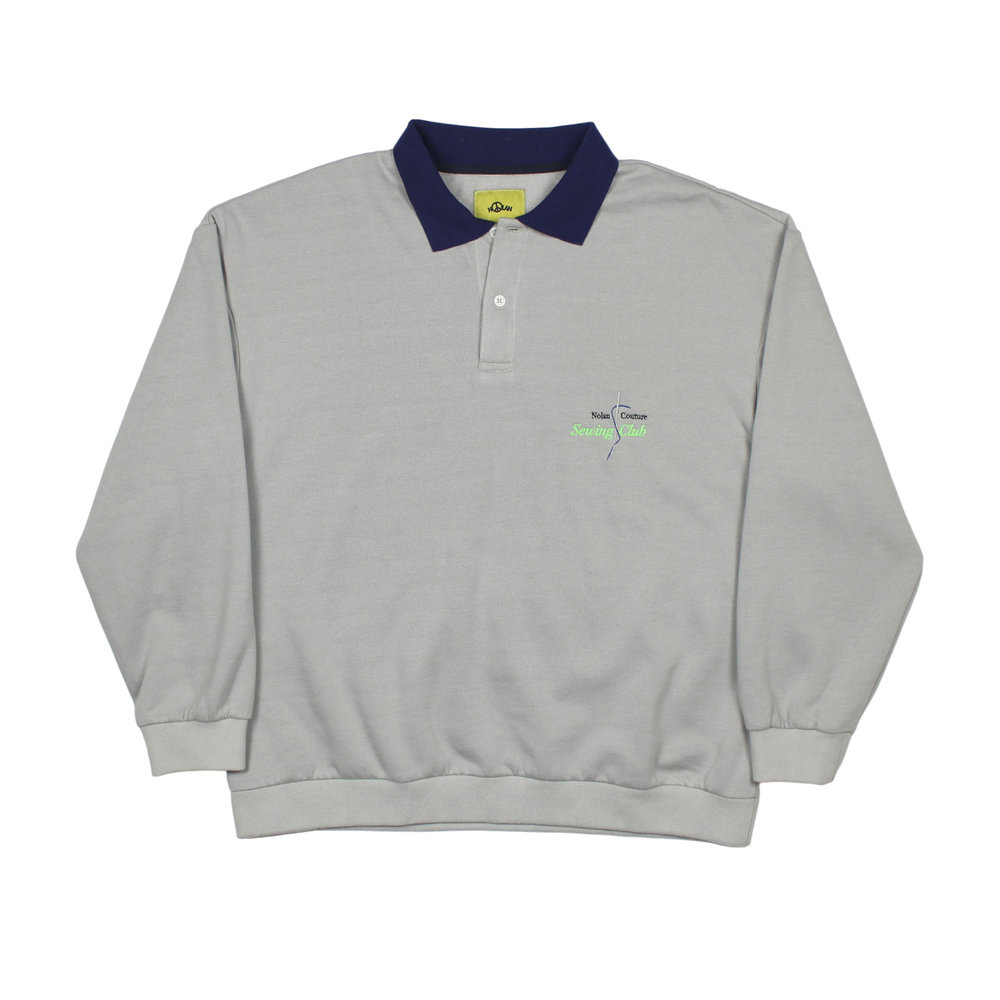 Nolan Couture Sewing Club Grey Polo Front.jpg