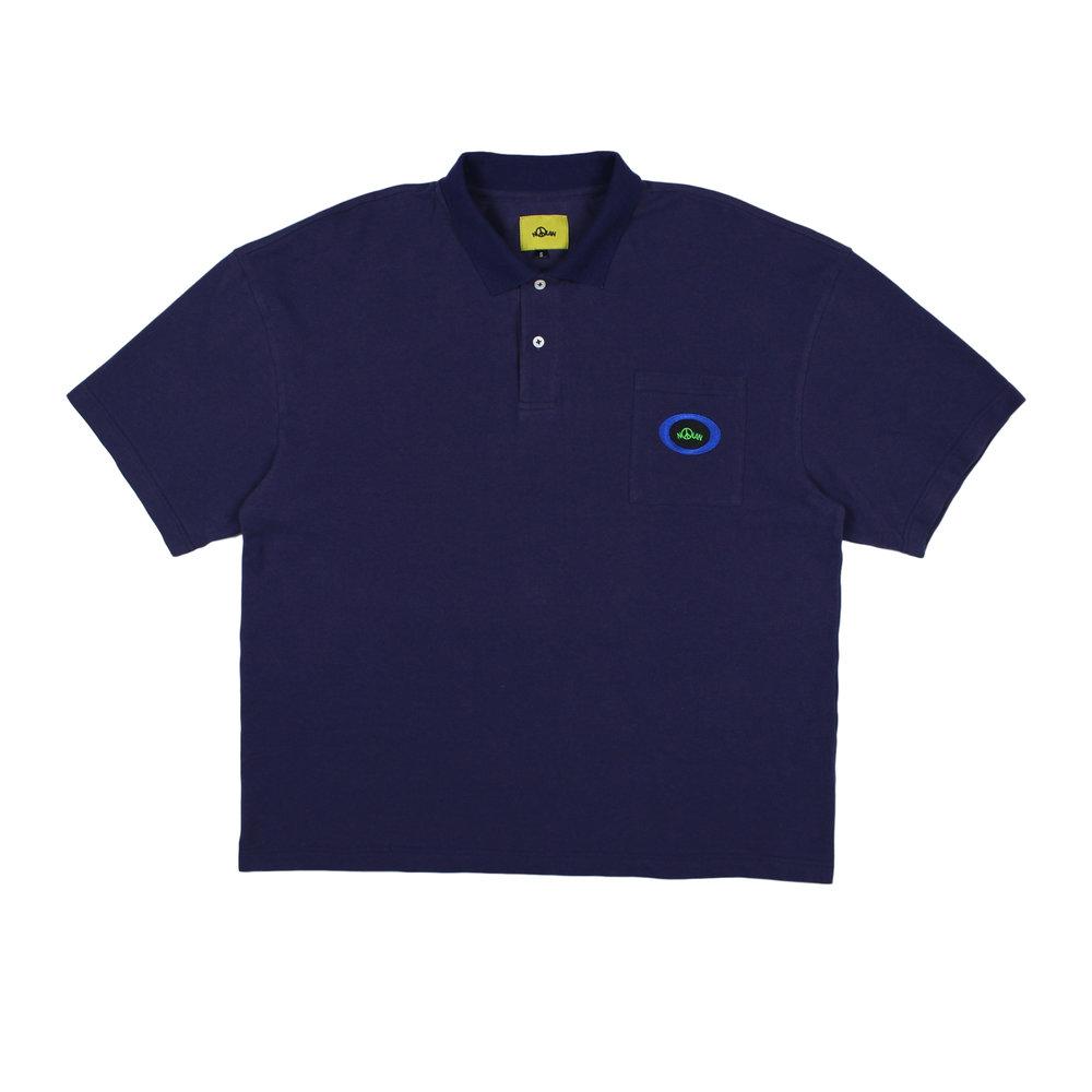 Nolan Round Logo Polo Shirt Front.jpg