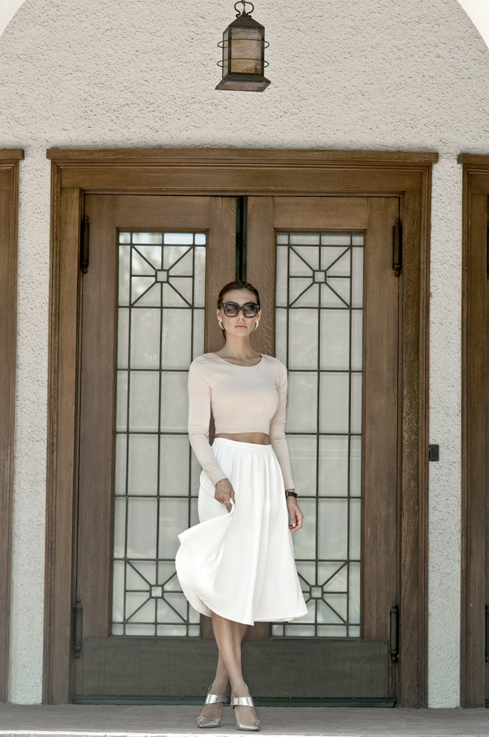 WEARING:  Ax Paris Top  ,  Missguided Skirt ,  Lillot Earrings ,  Elizabeth and James Shoes ,  Daniel Wellington Sheffield Watch (Get 20% off with the code hellosummer) ,  Céline Audrey Sunglasses ,  Krystle Knight Cirrus Rings ,  Nashelle Brko Ring