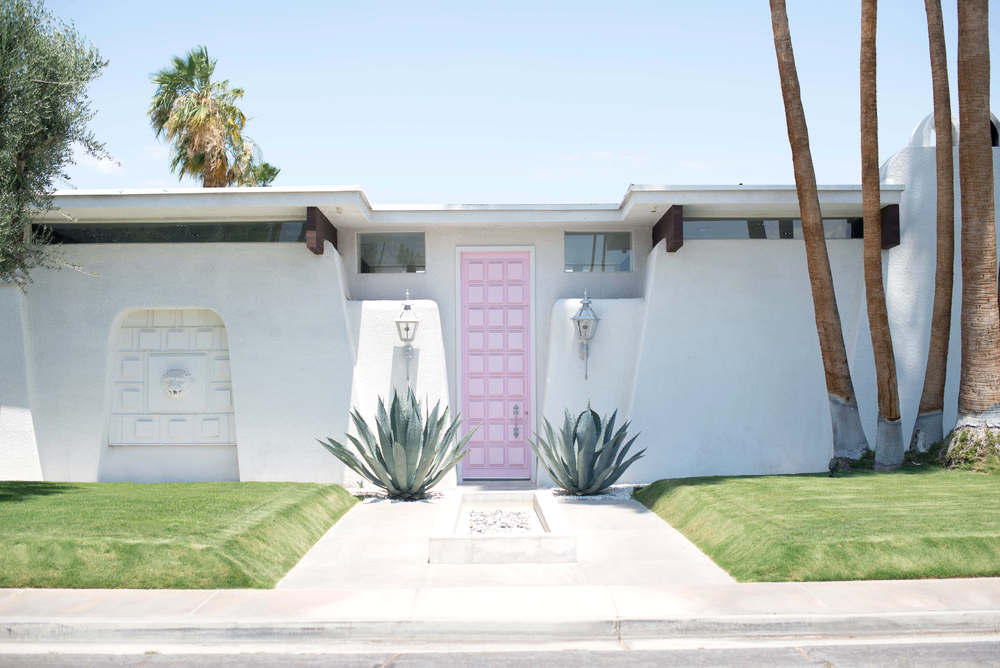 The famous Pink Door designed by Moises Esquenazi in Palm Springs