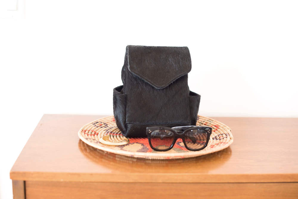 calf hair mini backpack and céline sunglasses