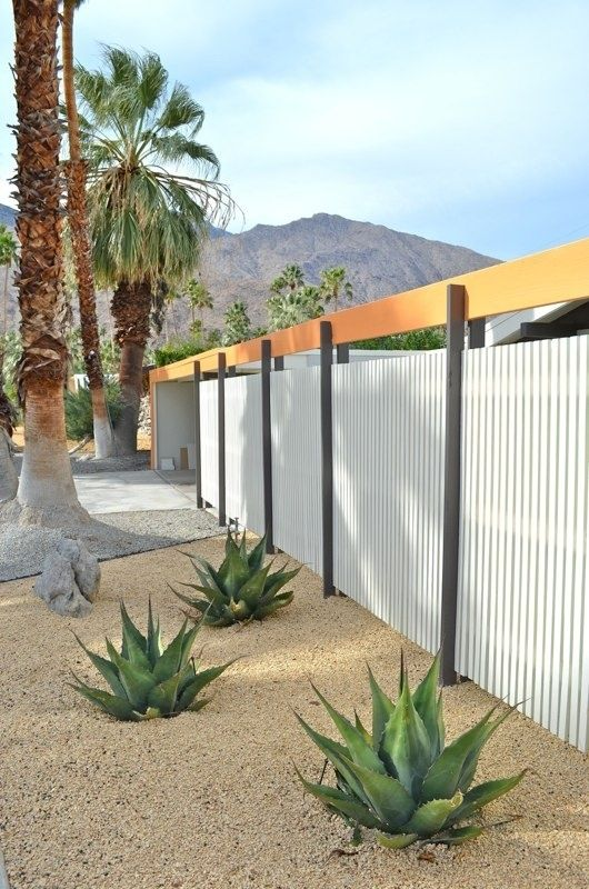 Corrugated metal outdoor walls