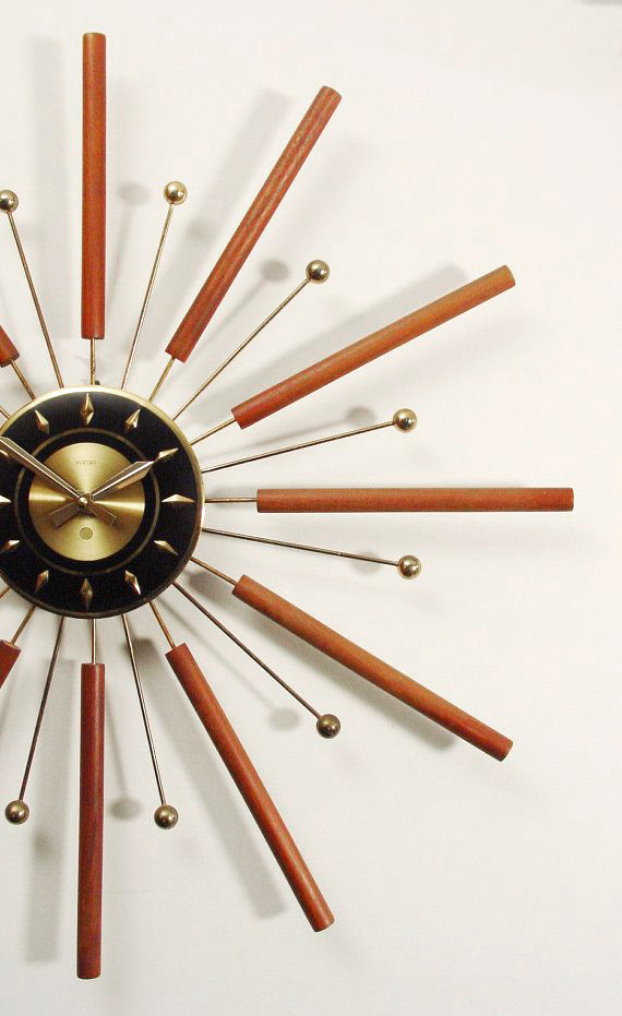 Mid-century modern Starburst clock