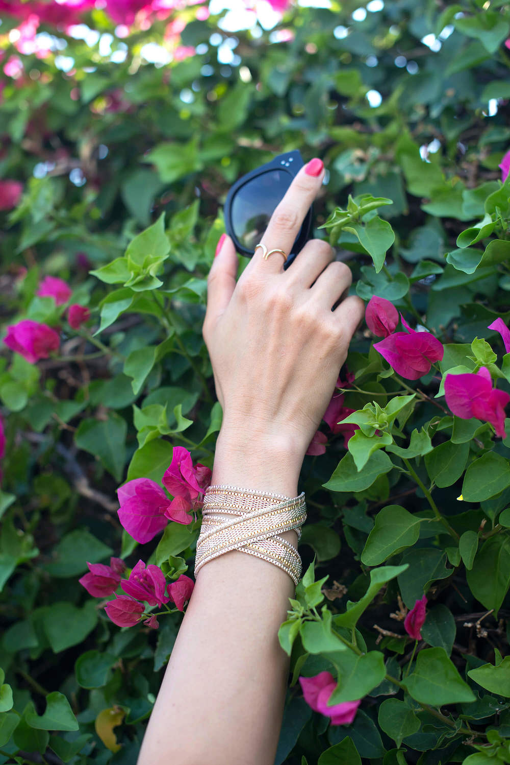 jewelry and bougainvillea