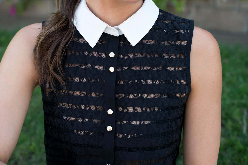 Lipsy sheer button up collar shirt