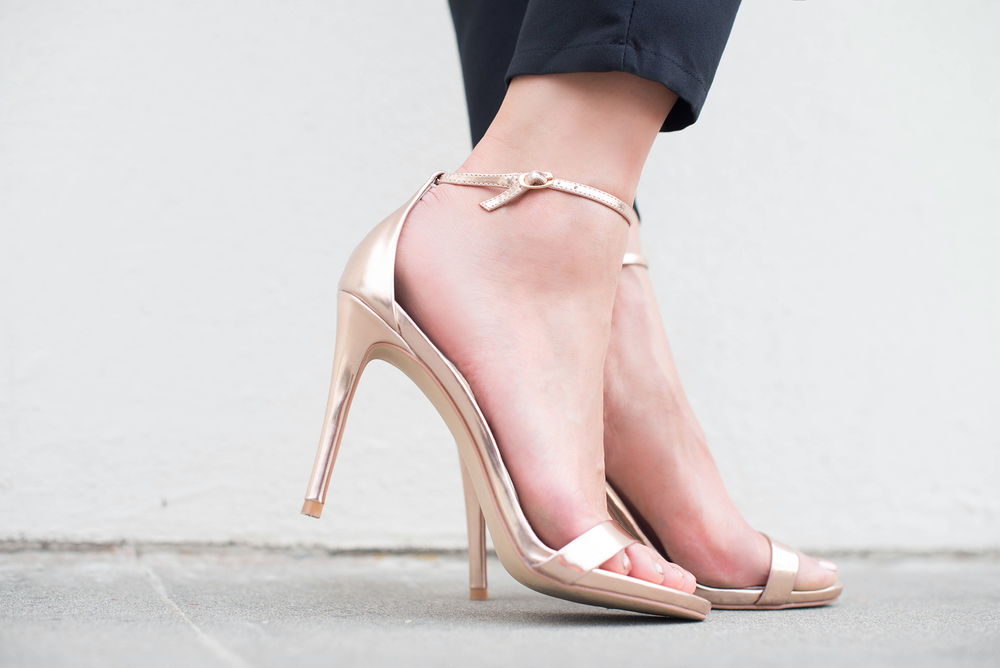 Steve Madden Rose Gold Sandals