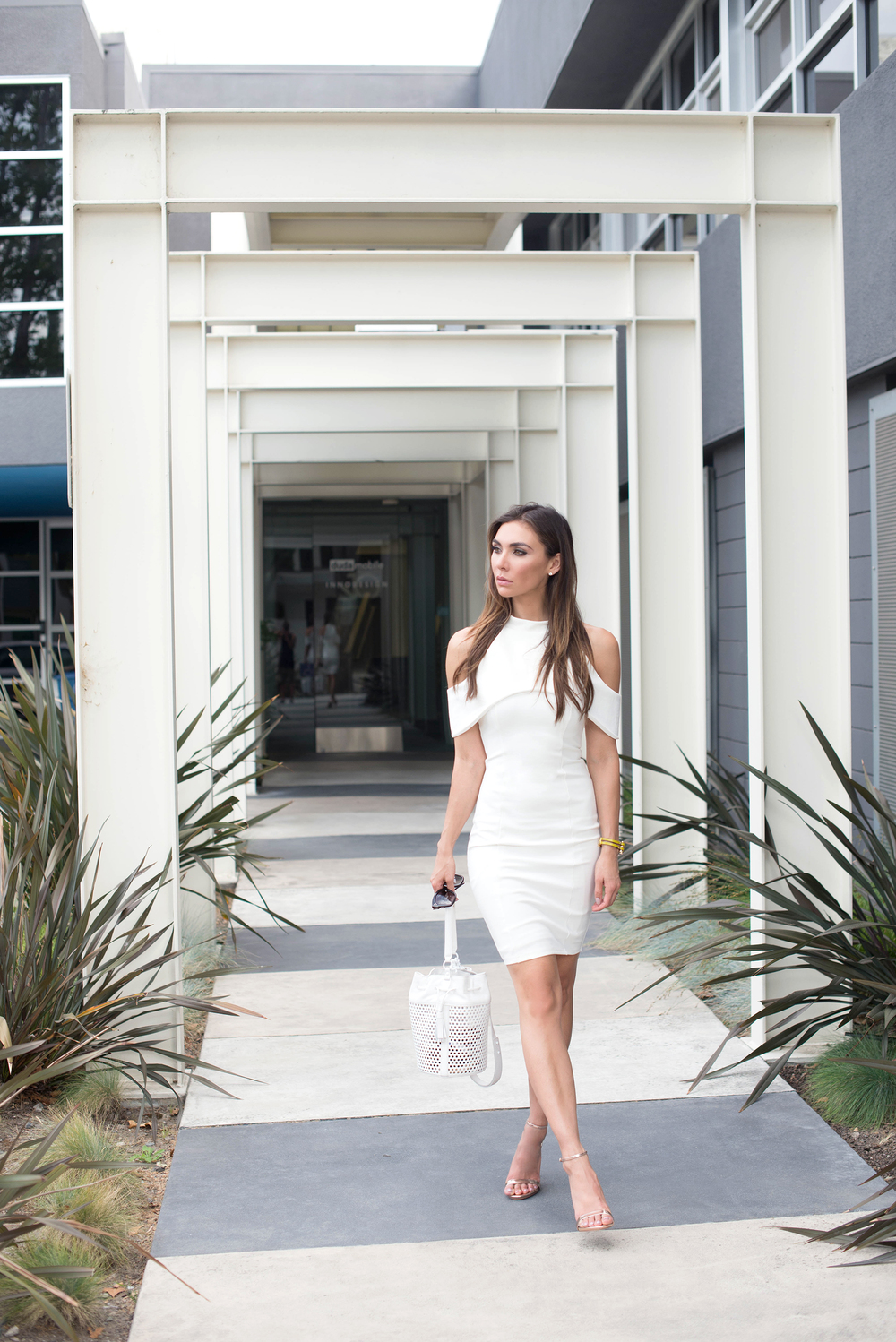 Lavish White Cut Out Dress