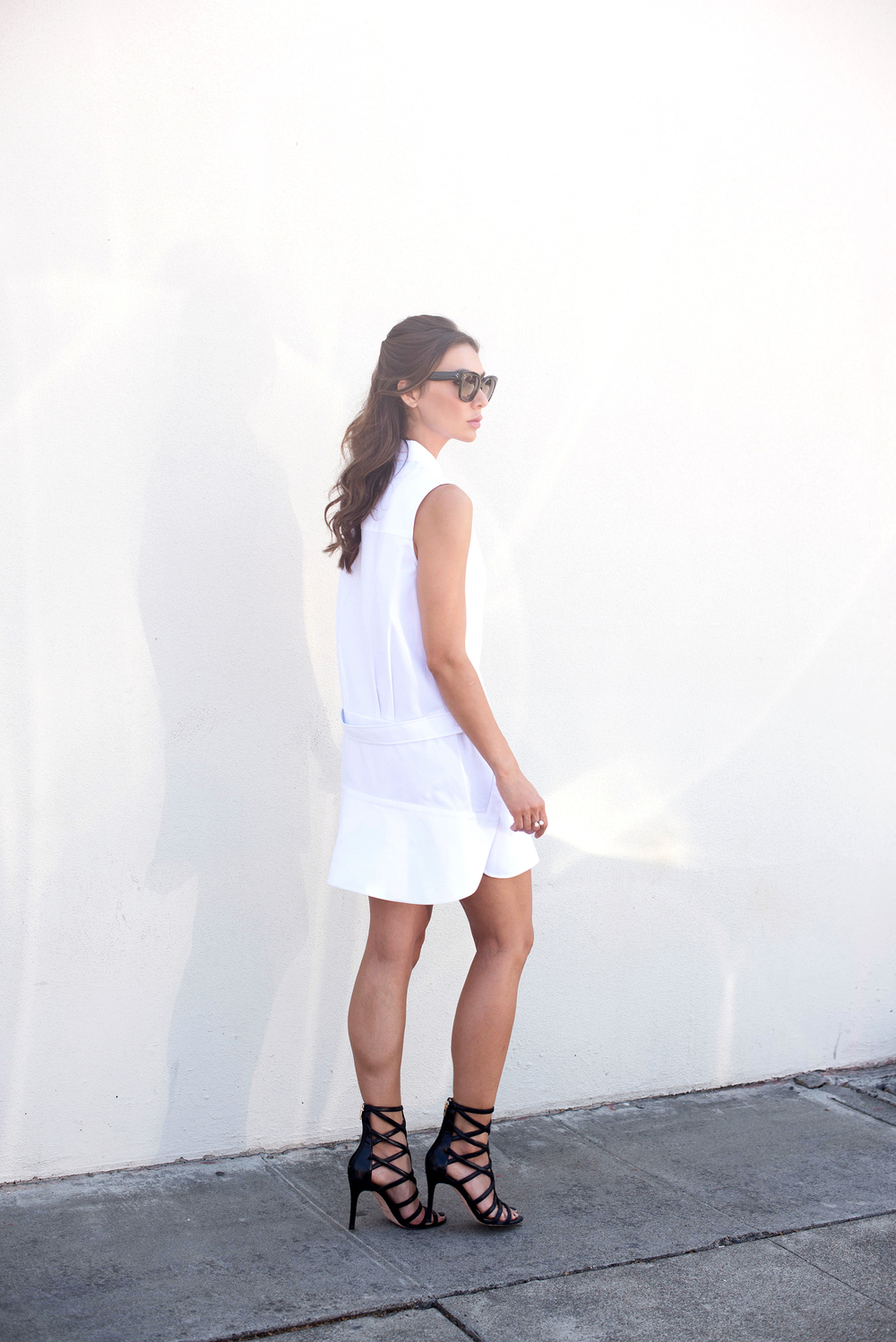 Alexander Wang Shirt Dress and Cage Heels