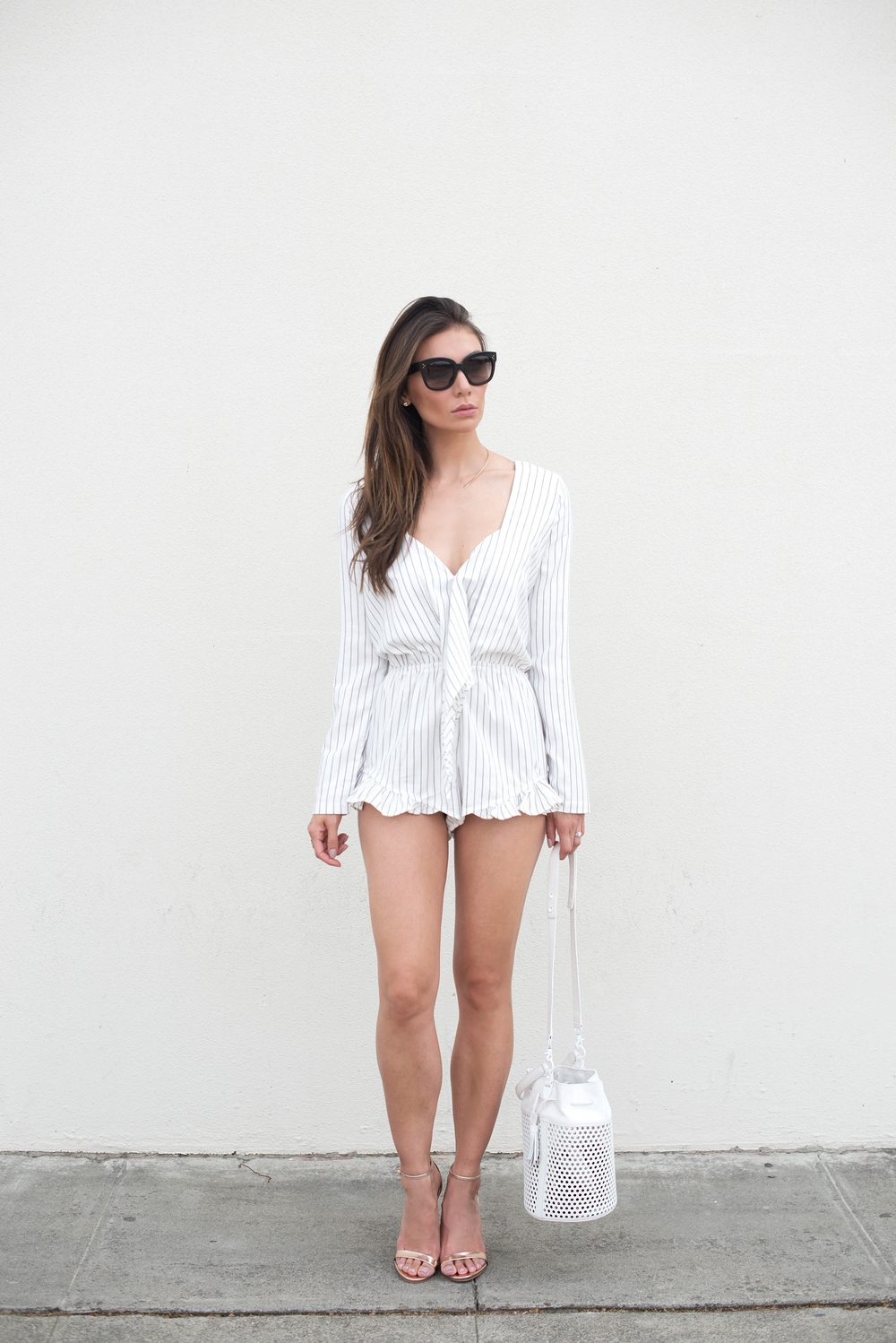 ROMPER. BAG (now on sale). SHOES. SUNGLASSES. NECKLACE.