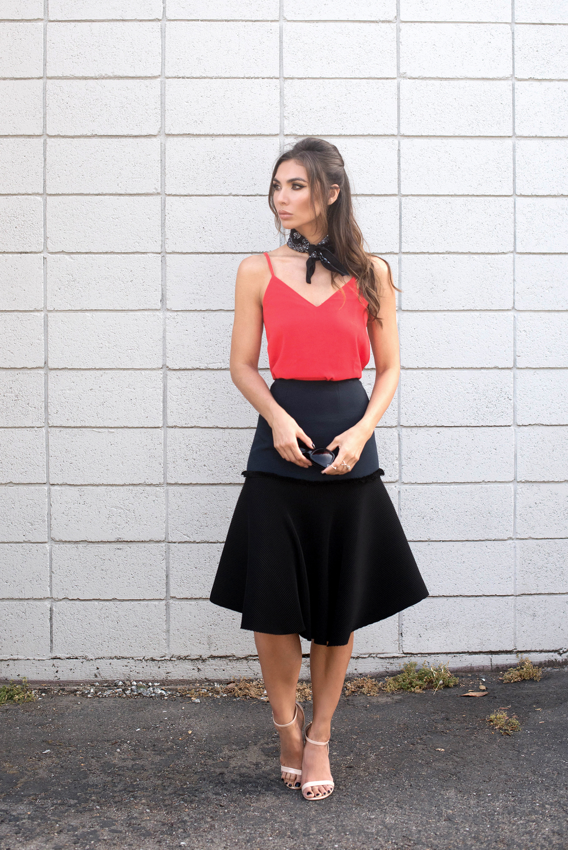 C/meo Top. Cédric Charlier Skirt.