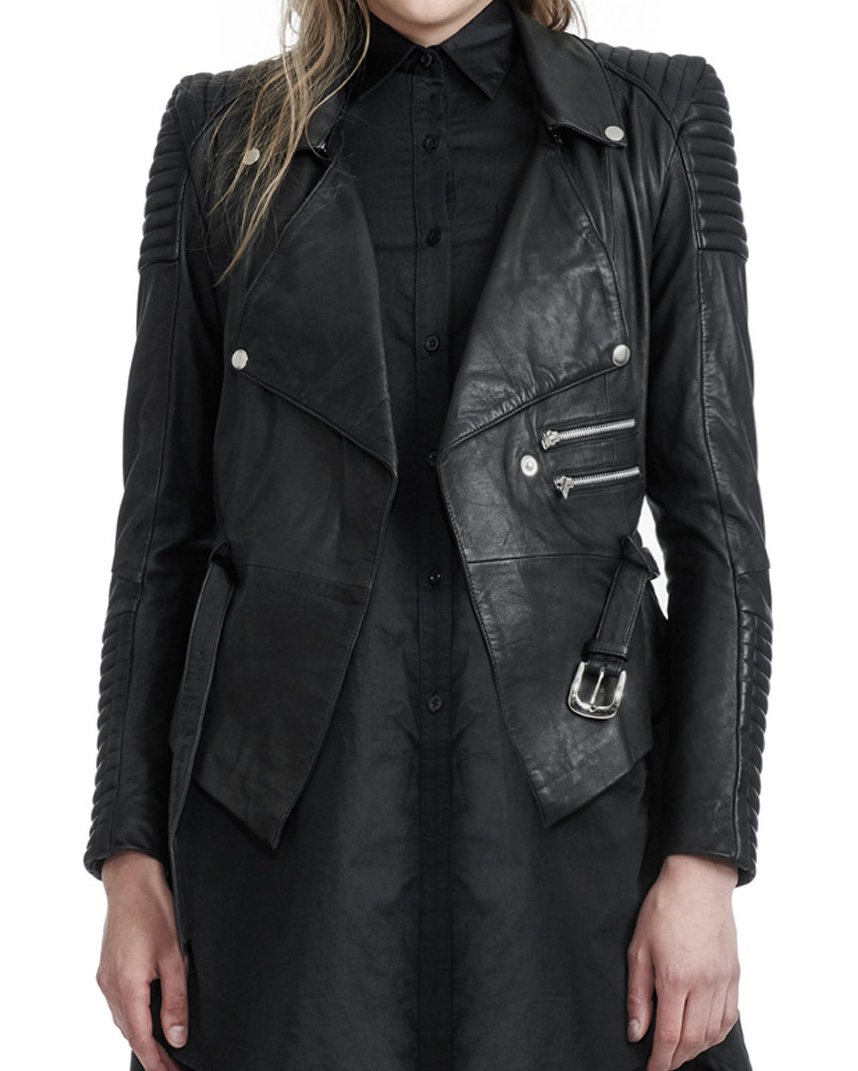 DRAPED MOTORCYCLE JACKET (own it, love it)