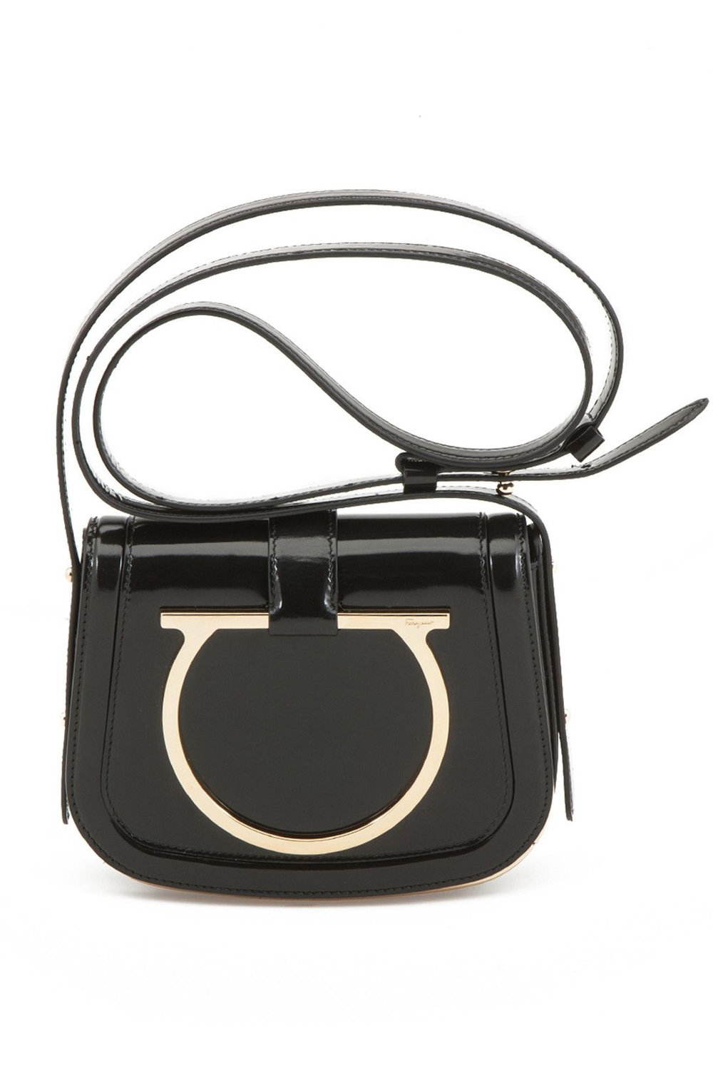 Salvatore Ferragamo Patent Leather Crossbody Bag