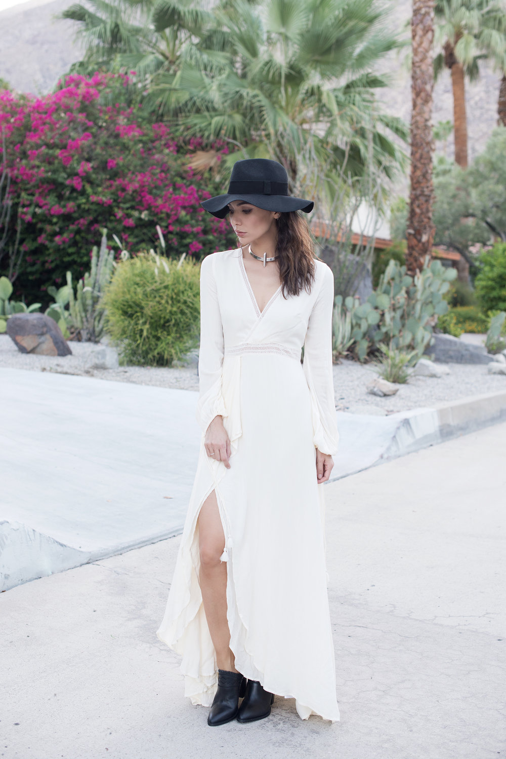 DRESS   /   SHOES   / HAT (Anine Bing, similar   HERE  ) /   NECKLACE (now on sale)