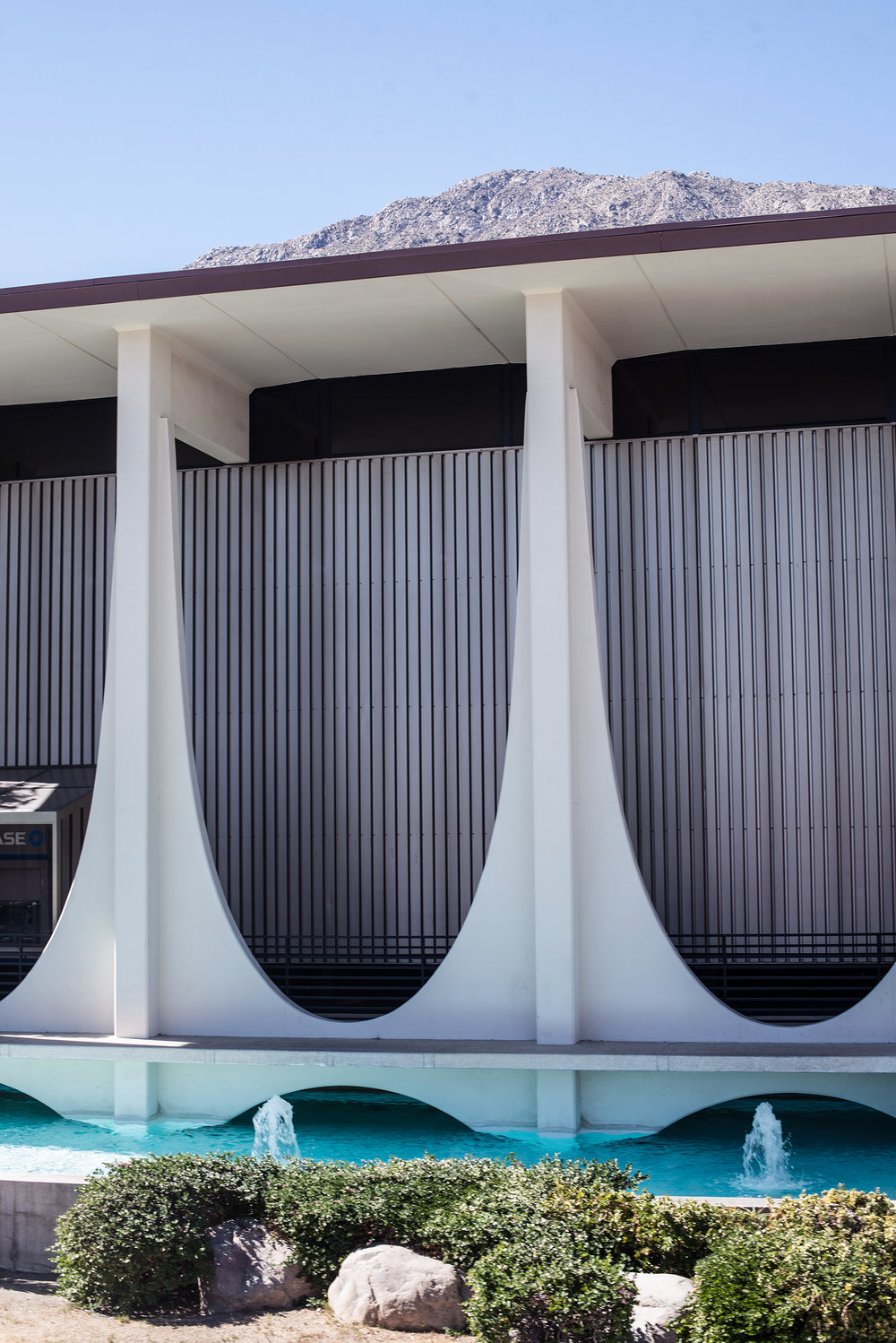 Now the Chase Bank and one of the more heavily photographed buildings in Palm Springs, designed by E. Stewart Williams