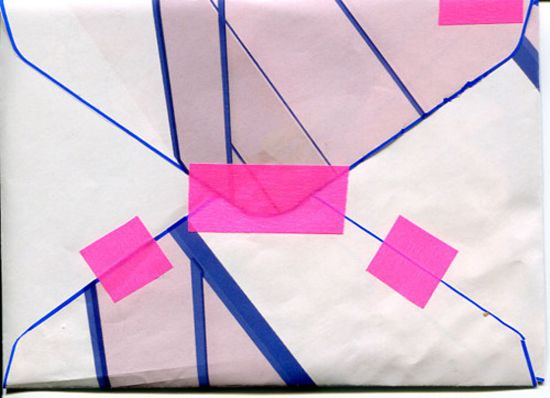 I need to start keeping my notes to self in something as fab as this taped envelope!
