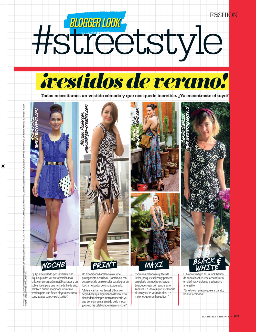"Featured in the January 2015 issue of Seventeen Magazine Chile! ""Dress of Summer - Blogger StreetStyle"""
