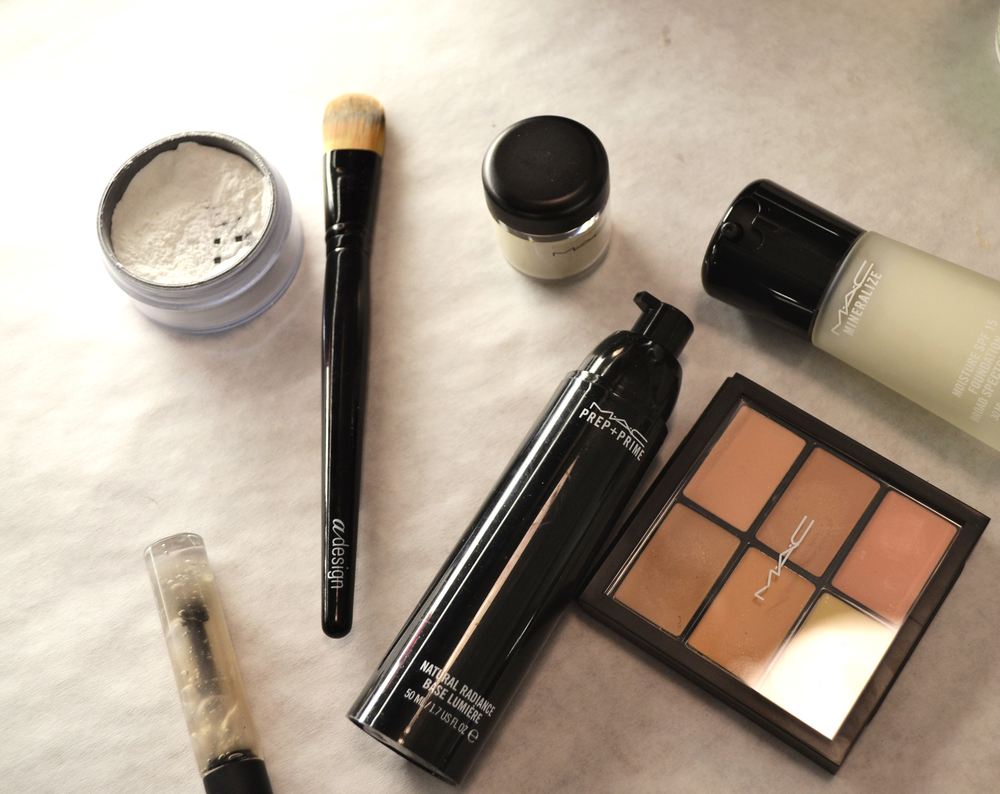 the MAC cosmetics product used to create the Lacoste FW 15 look