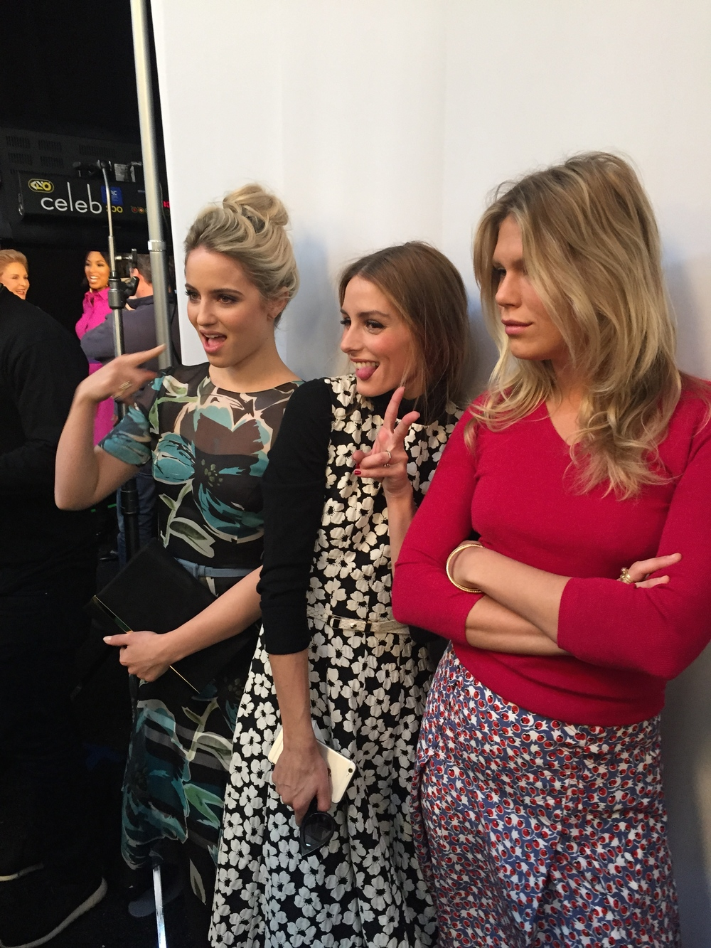Olivia Palmero and friends in the photo booth