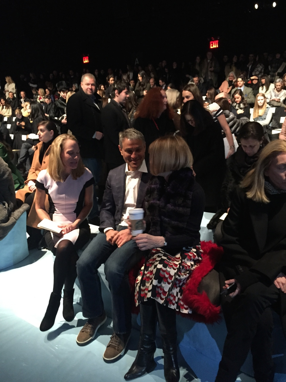 Anna Wintour in her seat front row.