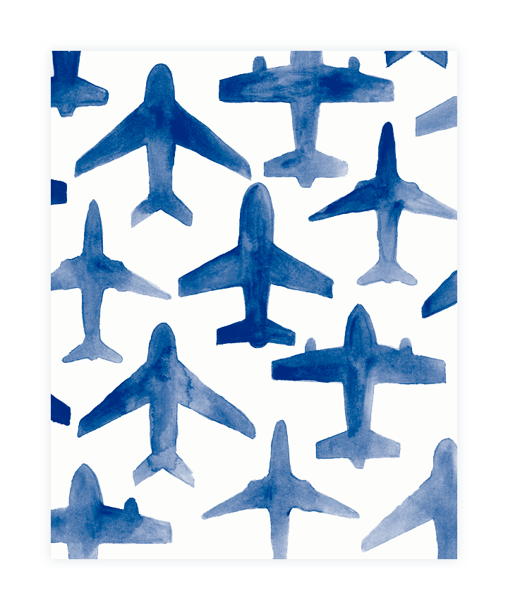 grab this fab watercolor airplane wallpaper  here