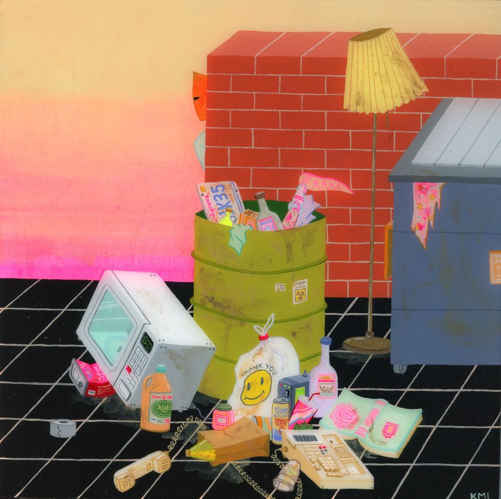"""Garbage Day, 8x8"""""""