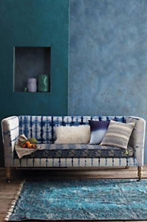 Anthropologie Hand-Dyed Shibori Sofa