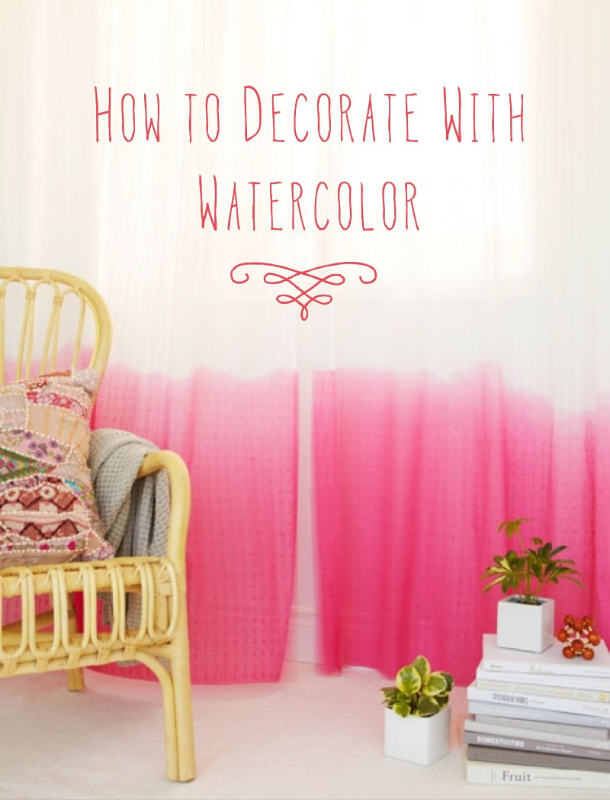 Watercolor Home Decor - How to decorate with watercolor // www.lydiamakepeace.com
