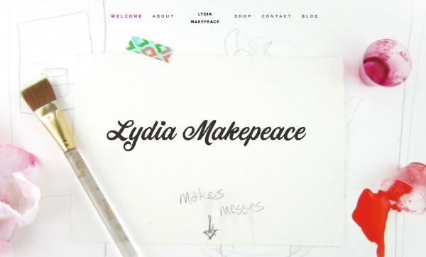 www.lydiamakepeace.com