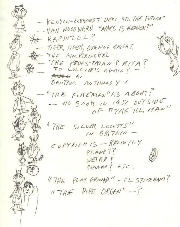 Ray Bradbury Doodles