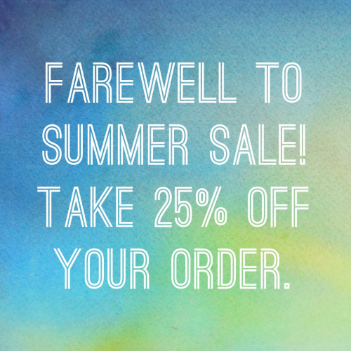 25% Off Etsy Shop Summer Sale!