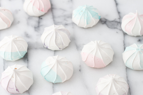 DIY: Watercolor-Inspired Meringues via Project Wedding