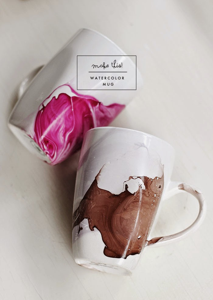 Watercolor Mug via Poppytalk