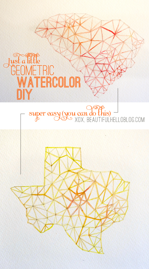Geometric Watercolor Painting via Beautiful Hello