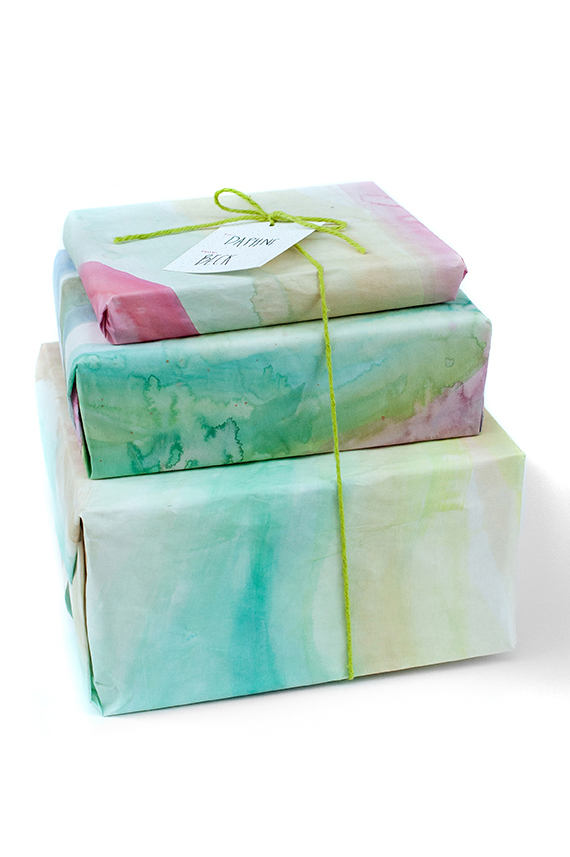 Watercolor Gift Wrap via julep
