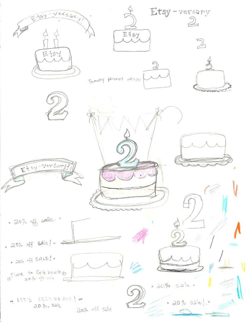 etsy-versary doodles // www.lydiamakepeace.com