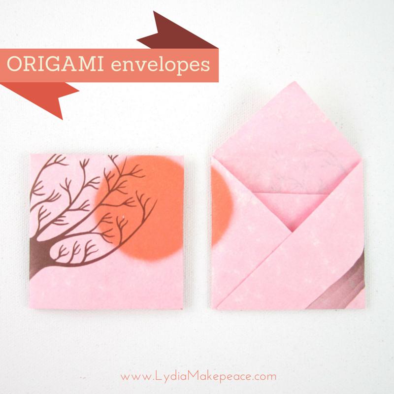 easy square origami envelope � artist lydia makepeace