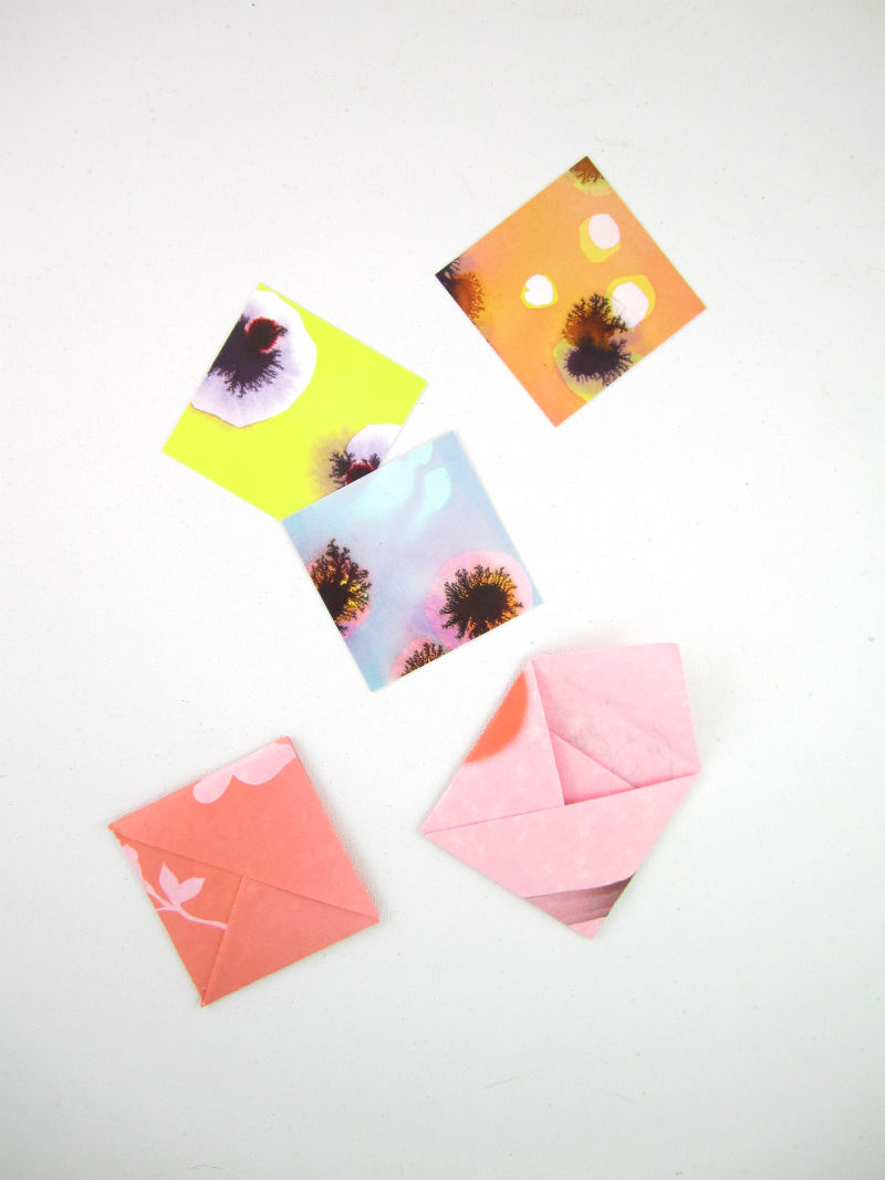 How to make an origami envelope step by step with pictures.
