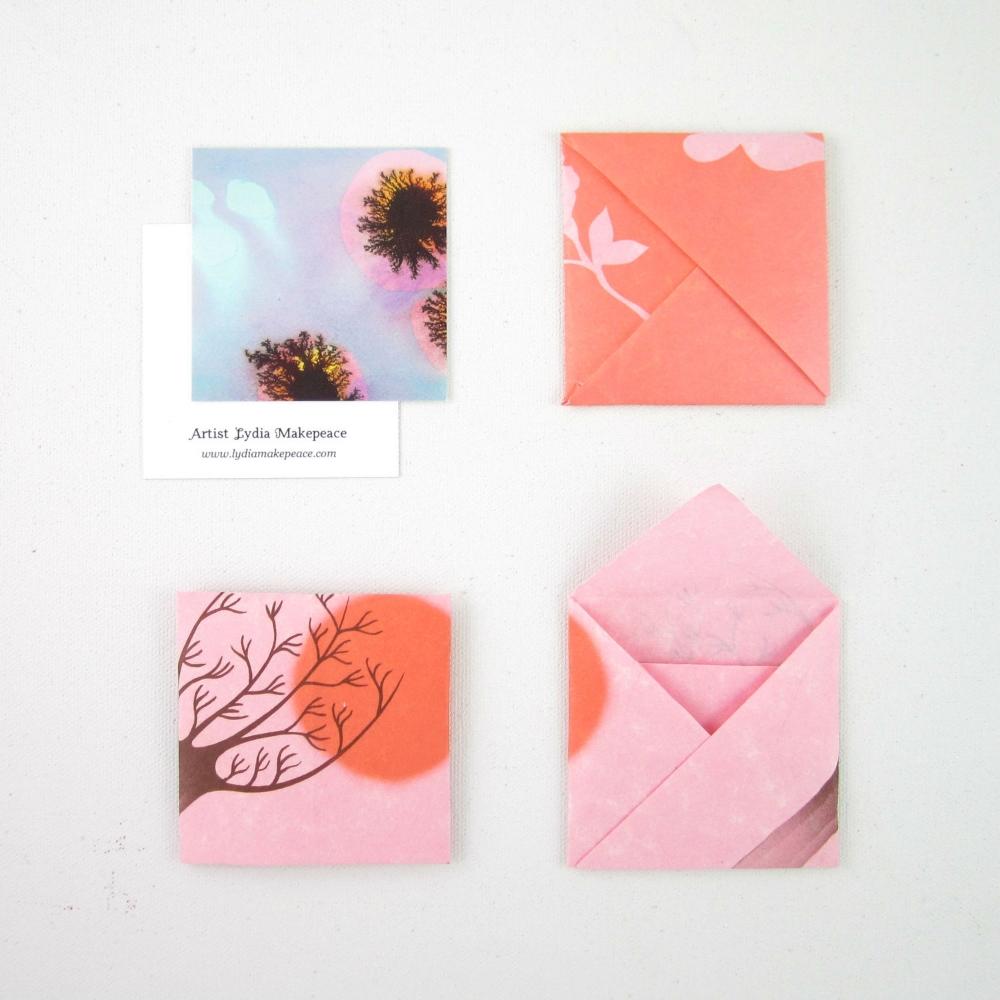 Easy Square Origami Envelope Lydia Makepeace