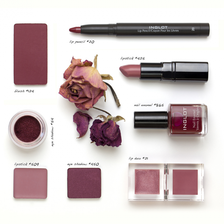 Marsala inspired cosmetics via MyNewestAddiction