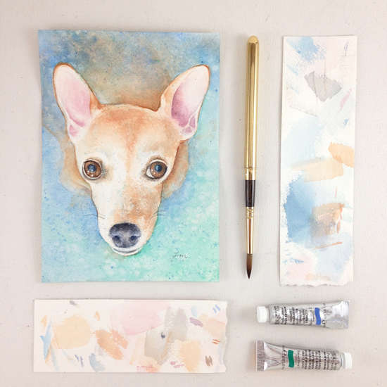 How to Paint a Pet Portrait | www.lydiamakepeace.com