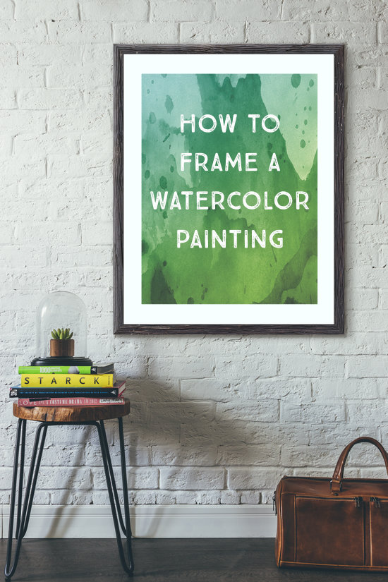 How to Frame a Watercolor Painting - a guide to conservation framing | www.LydiaMakepeace.com