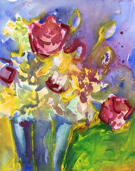 Vibrant Watercolor Bouquet | Lydia Makepeace