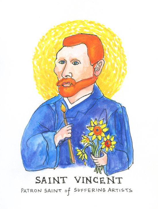 Saint Vincent: Patron Saint of Suffering Artists by Lydia Makepeace | www.LydiaMakepeace.com