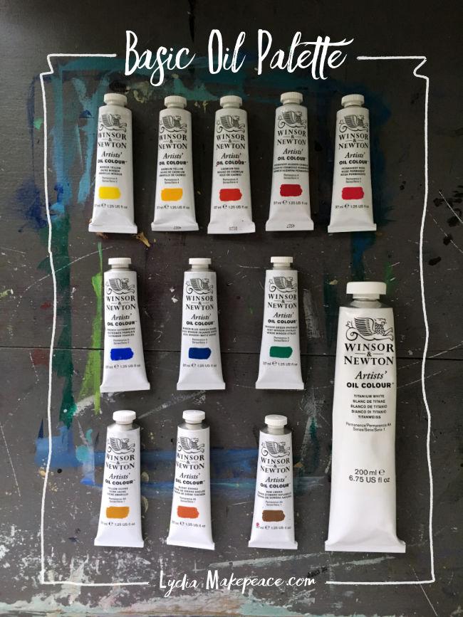 Basic Oil Palette Artist Lydia Makepeace