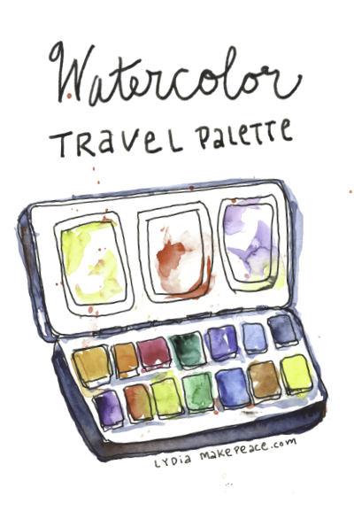 Watercolor Travel Palette Paint List | LydiaMakepeace.com
